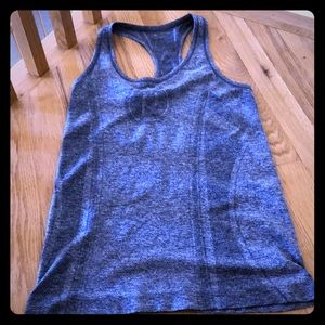 Pure Barre tank, size small, blue heather
